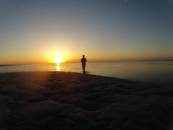 cape cod flats fishing sunset