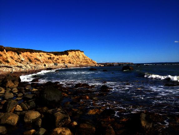 cuttyhunk island cliffs