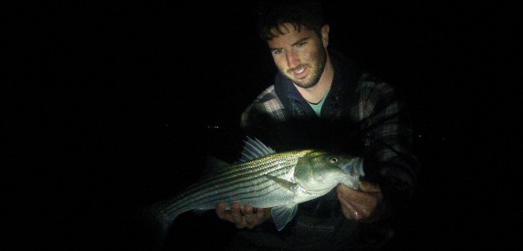 Surfcasting for Night bass fishing