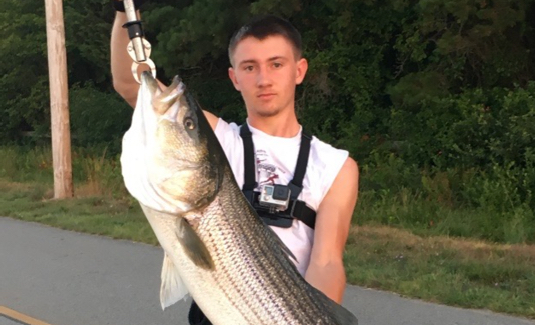 hayden gallagher cape cod canal striper
