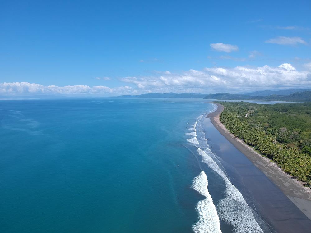 playa zancudo beach, costa rica, drone view